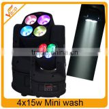 Mini wash lights 4x12watt rgbw 4in1 led lighting stage moving head 4x4                                                                                                         Supplier's Choice
