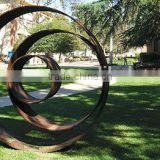 Metal ring art sculpture for garden decoration