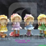 Resin girls figurine harvest festival gift sets