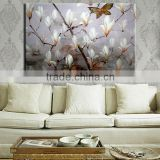 China home decor wholesale flower painting canvas paintings large flower paintings magnolia flower oil painting home decor