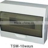 TSM-10ways Surface Distribution Box(Electrical Distribution Box,Plastic Enclosure)
