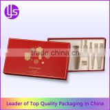 Lift Off Lid Rigid Paper Cardboard Cosmetic Beauty Gift Set Packaging Box