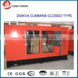200kva diesel generator for residential building,factory use, weather proof, soundproof and waterproof