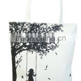 Cartoon Swing Design Fashion Latest Shopping Bag Eco-friendly Canvas Shopping Bag For Women
