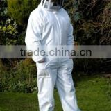 good quality bee jacket, White cotton beekeeper beekeeping protection half body bee suit