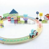 Wooden train rail tracks for kids