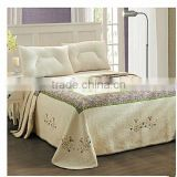 European American embroidered flowers cotton patchwork bedspread, air conditioning quilt, bed cover sheet