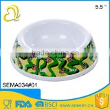 custom design plastic pet ware round melamine dog cat bowl