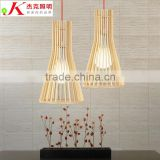 Wooden LED pendant light JK-8005B-03 Modern LED Pendant Lighting Fancy Natural Wooden Bulb Chandelier