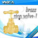 angle brass globe valve for controlling flow