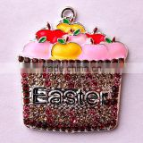 Easter New Arrive fashion alloy food rhinestone charming fruit crystal pendants for kids jewelry necklaces making!