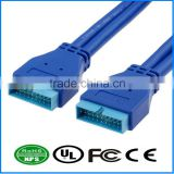 USB3.0 Cable M-M 20PIN Cable Superspeed Extension Cord Chassis Front Panel Copper Core Cable