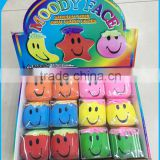 Hot Selling Cute Shape Novelty Design Moody Smile Face Stretch Ball Toy                                                                         Quality Choice