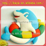 3d soft plastic custom round metal fridge magnet