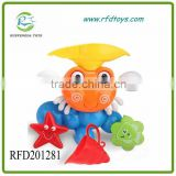 Crab Spray Water Waterwheel Turning w/ Cup Set Baby Kids Bathtime Bath Toy