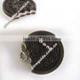 2013 Best Seller Fake Chocolate Biscuit Soft PVC Personalized Key Cover For Family Decoration