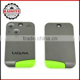 Hot sales professional renault laguna key card--renault laguna with 2 buttons and 433Mhz on hot sale 3pcs/lot