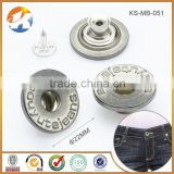 Garment Accessories Metal Jean Button with Customized Logo Embossed                                                                         Quality Choice