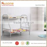 College Dormitory Furniture steel double decker metal bed frame with staris