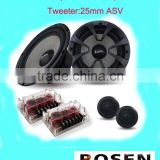 "component speaker of 6.5""inch car audio speaker with crossover two way"