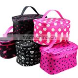 Various designs Wholesale promotional travel polyester cosmetic bag with logo customzied