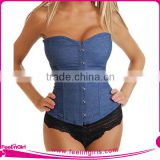 Hot Women Sexy Mature Blue Corset Wholesale