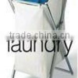Fashional white fabric foldable laundry basket