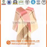 fashion soft wholesale beige chequer loop yarn woven square scarf