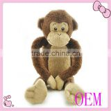 stuffed colorful long arm leg monkey plush hanging monkey