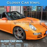 Fast Delivery Best Quality 1.52x30M Glossy Orange Film Car Wrap Film