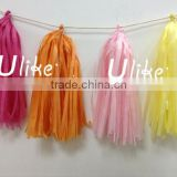 Best Gift!!! Valentine's day decorations tissue paper tassel garlands for festival party decoration