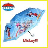 promotional Mickey luxury kids parasol umbrella with lace