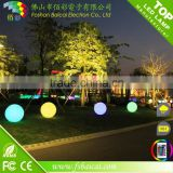 20cm waterproof IP68 solar 16 color changing led ball light/solar led ball for garden and home