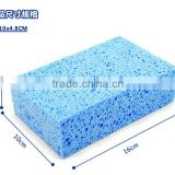 wet natural cellulose sponge with cleaning pad kitchen cleaning