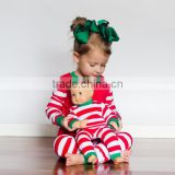 wholesale christmas pajamas/ family hoodie-footie/pajamas/organic cotton pajamas dot stripe