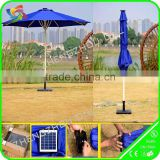 garden led umbrella with solar energy