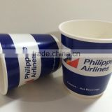 Custom printed disposable double wall paper cup, high quality cheap double wall paper cup