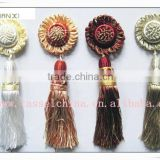 Attractive curtain clip / buckle, decorative polyester tieback tassel, window curtain accessory