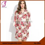 2801 Stock Available Wedding Cotton Floral Bridesmaid Robes