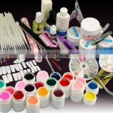 Full Set Combo Nail Art Manicure Tool Kit w/30 Colors Solid UV Builder Gel HN1283