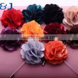 >>>2016 Trendy Korean Style Gentle Men's Lapel Rose Flower Suit Imitated Silk Fabric Brooch Pin/