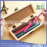 retro wooden clasp black and white board pen boxes Creative multi-function receive a pencil case