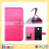 Leather flip cover case For HTC butterfly 3 support customization for different phone model