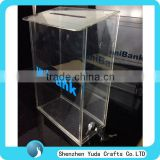 Wall Mount Donation Box Acrylic Donation Box With Custom Printing