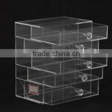 Factory Crystal Knobs Clear Acrylic Large Drawer Cube Cosmetic Makeup Organizer
