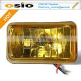 4'Square 150 Fog Light 12V/24V Auto LIGHT Halogen Crystal yellow glass Sealed Beam H4 LAMP