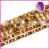 High quality natural gold tigereye round loose beads