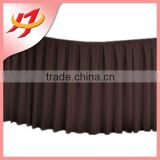100% Polyester Plain Fabric Pleated Wholesale Banquet Table Skirt Styles