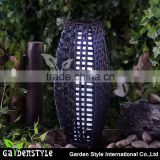 rattan plaited articles solar post light outdoor post light battery operated led lighting