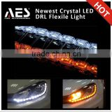 AES New S8 crystal LED DRL for car headlight angel eye white-yellow A2 A3
